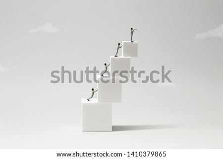 precary hierarchy abstract minimal white concept