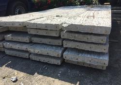 Precast concrete panels slab planks on stacked. Cement slab.