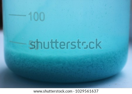 Precipitation of copper carbonate. #1029561637