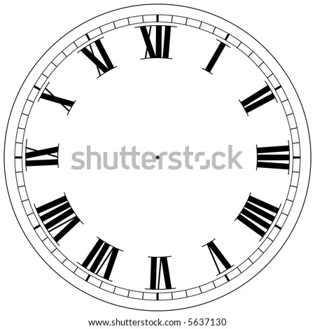 precision roman clock face template