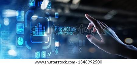 Predictive analytics Big Data analysis Business intelligence internet and modern technology concept on virtual screen. ストックフォト ©