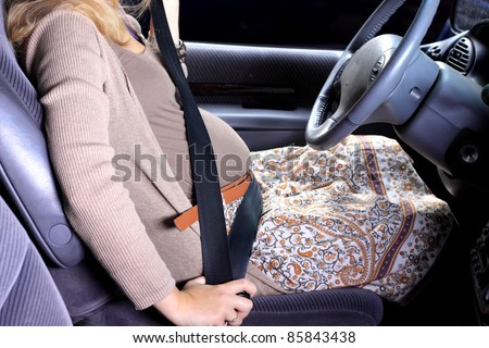 Pregnancy women in the car