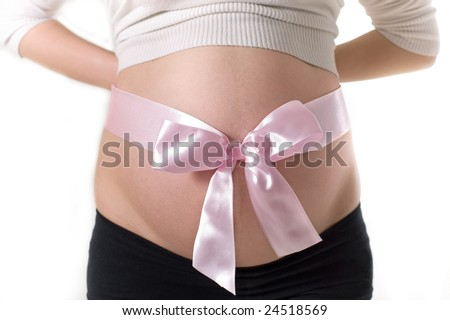 stock photo : Pregnant belly
