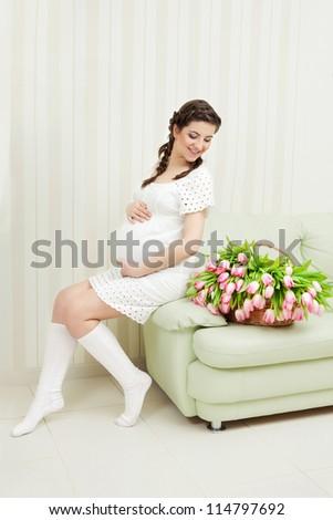 Pregnant female - stock photo