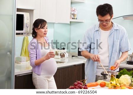 wife milks husband