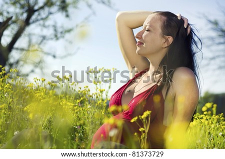 pregnant woman - stock photo