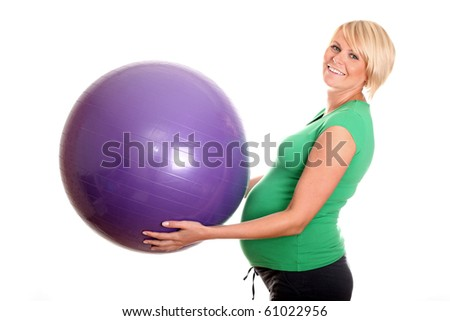 Pregnant Woman and Fitness Ball