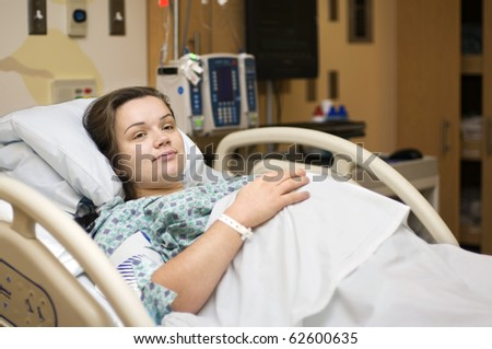 Pregnant woman in hospital