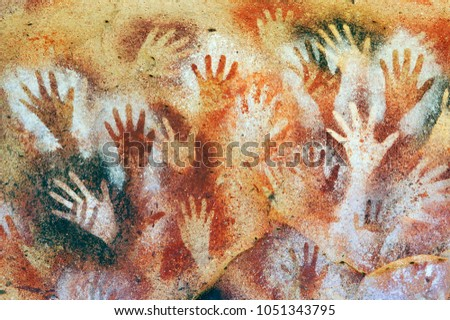 Prehistoric cave paintings. Santa Cruz. Patagonia, Argentina  Stock photo ©