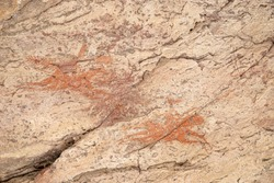 Prehistoric rock paintings, Chad, Africa