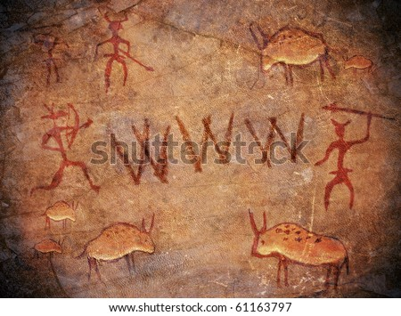 prehistoric world wide web cave paint