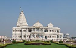 Prem Mandir temple in Vrindavan, Mathura. India. Prem Mandir temple is maintained by Jagadguru Kripalu Parishat, an international non-profit, educational, spiritual, charitable trust.