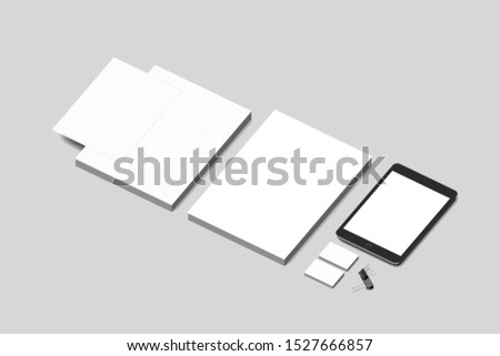 Premium blanks corporate mockup templates to show your design  #1527666857