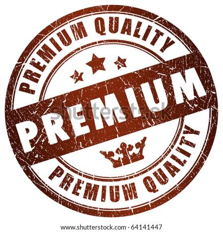Premium quality stamp - stock photo