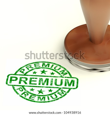 Premium Stamp Showing Excellent Product