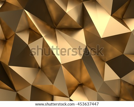 Premium VIP Golden Background. 3D Rendering