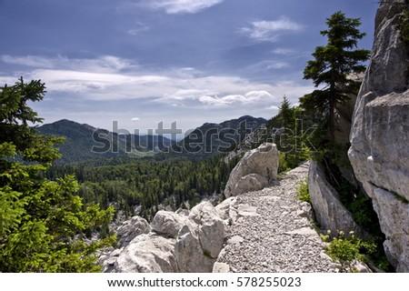 Premuzic mountain trail, Northern Velebit National Park, Croatia