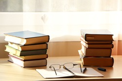 Preparation for exams at the university. Write a scientific article. Write a publication in a newspaper. The study of scientific material in the library.