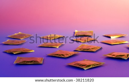 Preparation for relations - many condoms in disorder