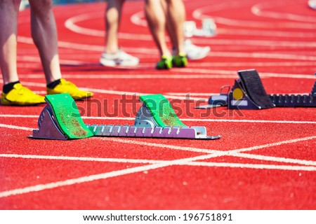 preparation for the race,sports background
