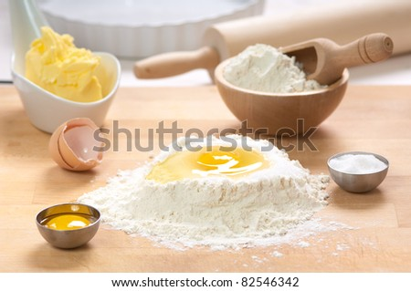 preparation of a sweet pie