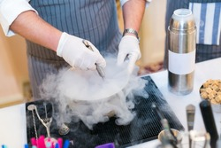 preparation of molecular cocktails with use of liquid nitrogen