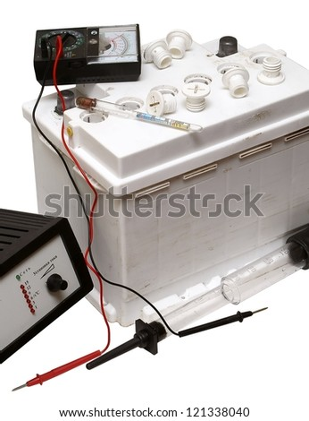 Preparation of the accumulator for loading - stock photo