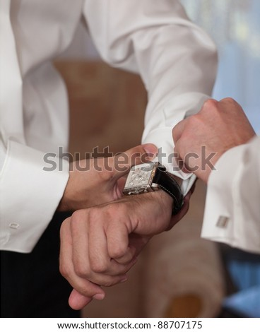 preparation of the groom wedding ceremony