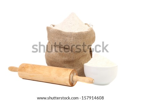 Preparations for homemade baking. Isolated on a white background.