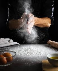 prepare fresh pasta, frozen movie, flour cloud
