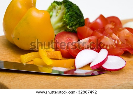 Prepare healthy vegatable to cooking. Shot in a studio.