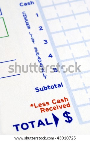 Prepare the deposit slip to make a bank deposit
