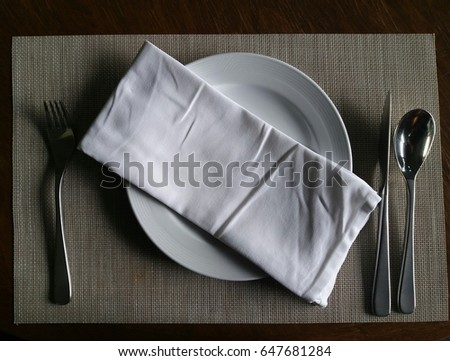 prepare the dining table ready to eat #647681284