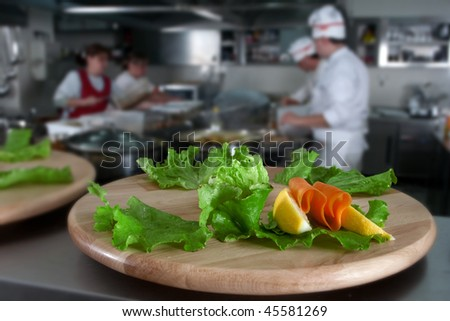 Preparing catering food