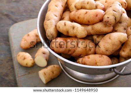 preparing fresh potatoes Stock fotó ©
