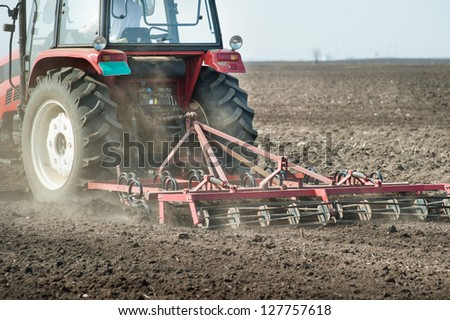preparing land for sowing in spring