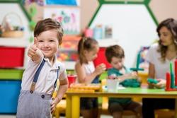 Preschool Children and Teacher in Classroom