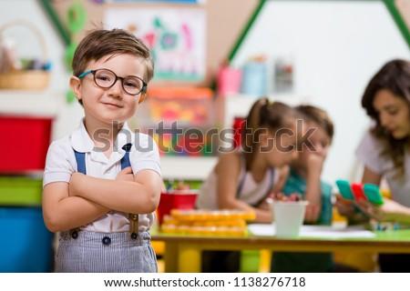 Preschool Student in Classroom