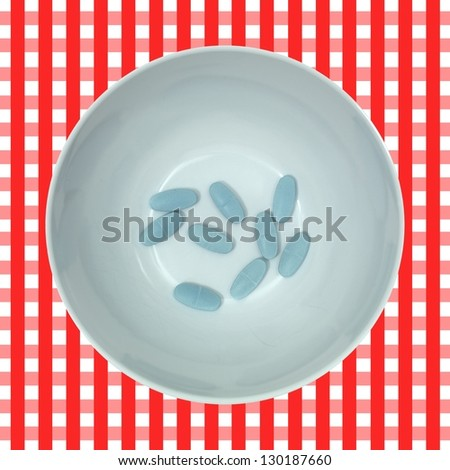 Prescription drugs isolated on a white background