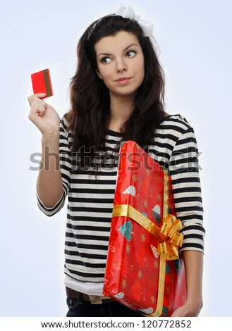 Present and gift card