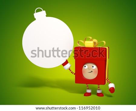 present box - stock photo