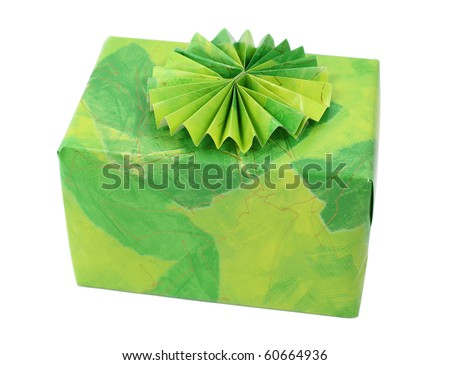 Present box isolated over white background