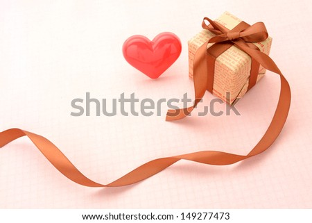 Present box with heart object