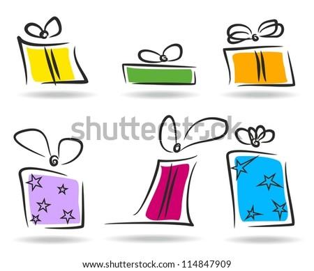 Present boxes set