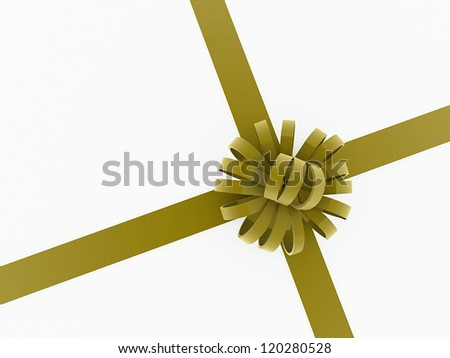 Present ribbon isolated on white backgroun