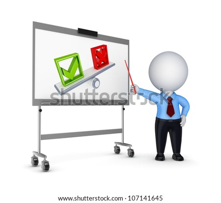 Presentation concept.Isolated on white background.3d rendered.