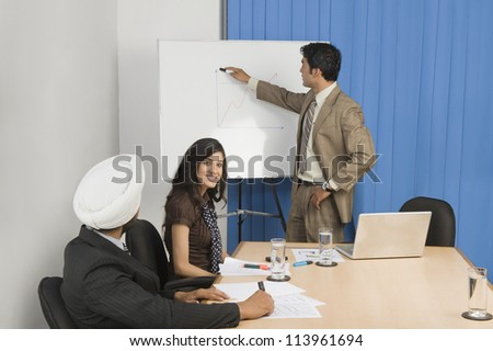 Presentation in a conference room