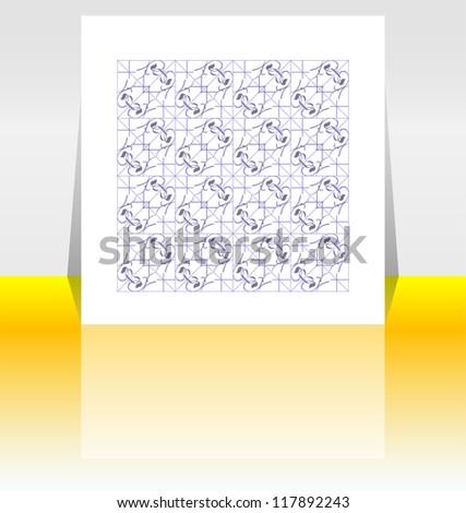 Presentation of flyer design content background, raster
