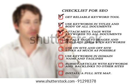 Presentation of SEO checklist