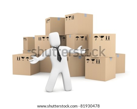 Presentation of services - stock photo